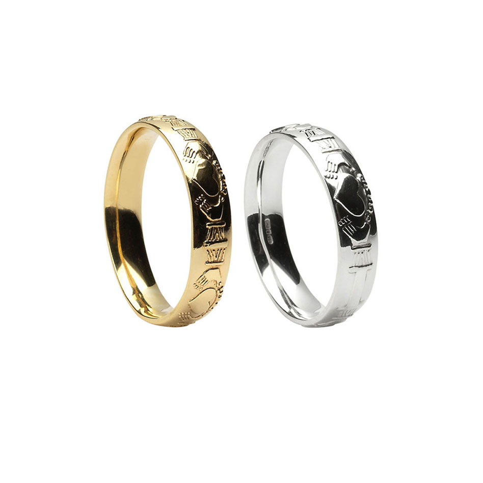 Men's Court Claddagh Wedding Ring