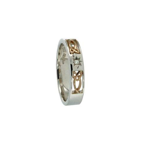 Narrow Trinity Knot Wedding Ring by Keith Jack