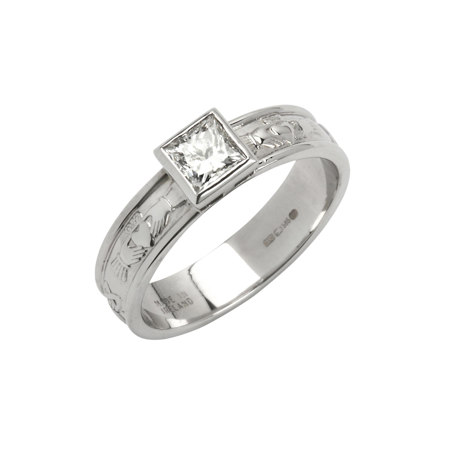 Corrib Claddagh Diamond Engagement Ring