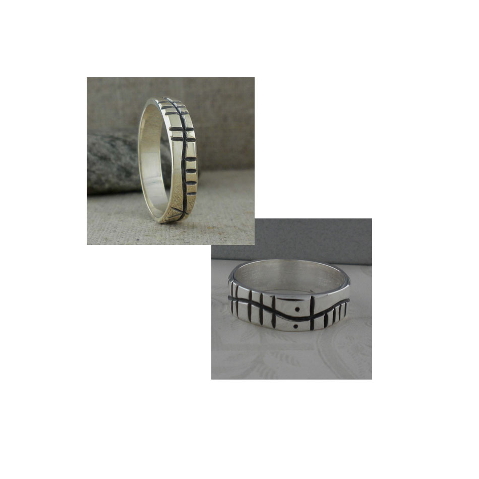 Custom Ogham Wedding Ring