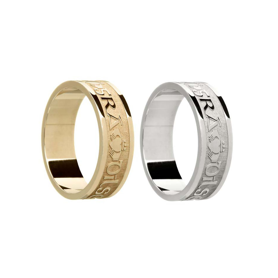 Men's Gaelic Claddagh Wedding Ring