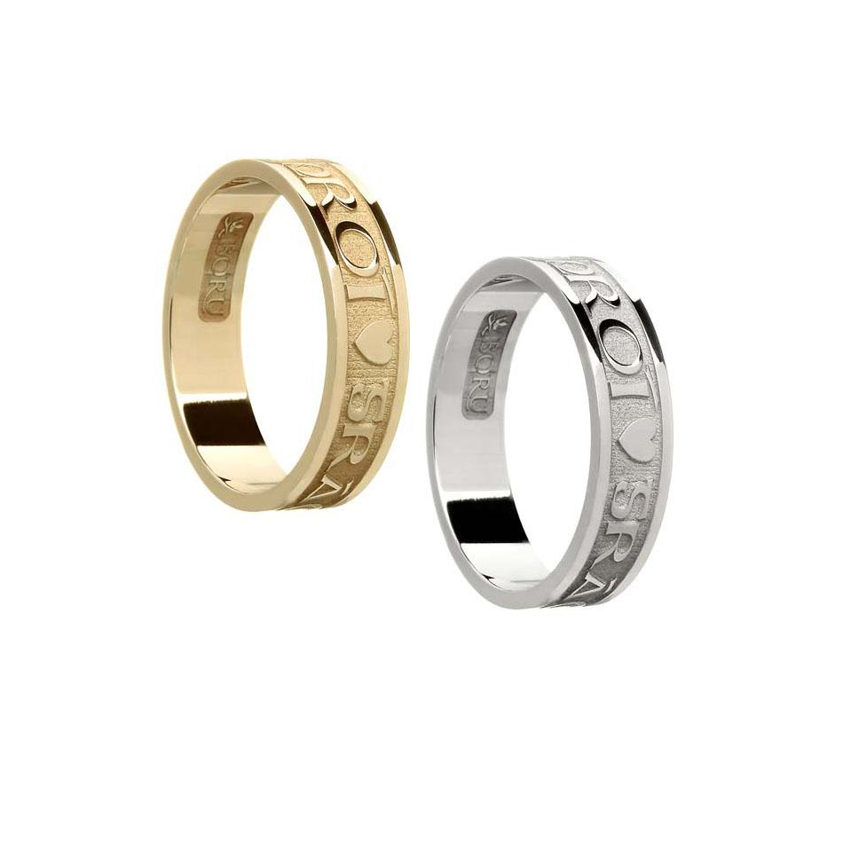 Ladies Gra Geal Mo Chroi Wedding Ring