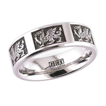 Welsh Dragon Wedding Ring