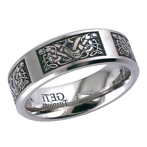 Double Celtic Hound Wedding Ring