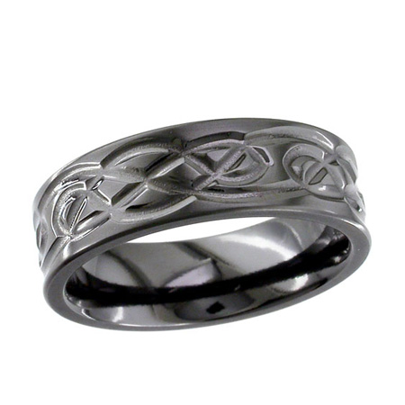 Black Celtic Knot Wedding Ring