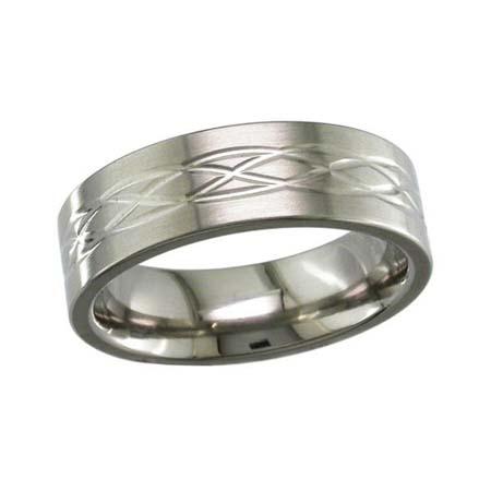 Celtic Weave Wedding Ring in Titanium