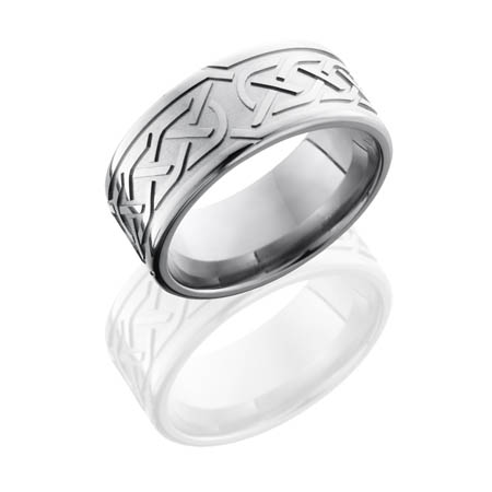 Wide Celtic Knot Wedding Ring