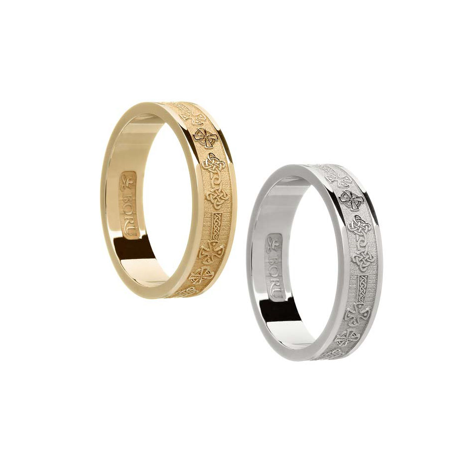 Ladies Celtic Cross Wedding Ring