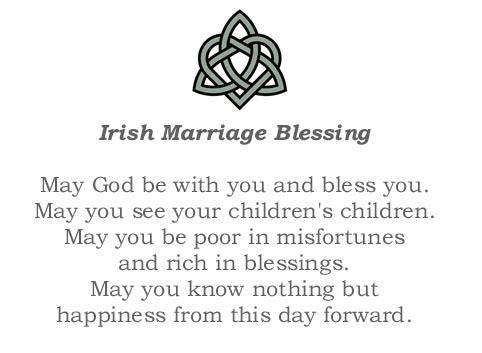 Irish Marriage Blessing