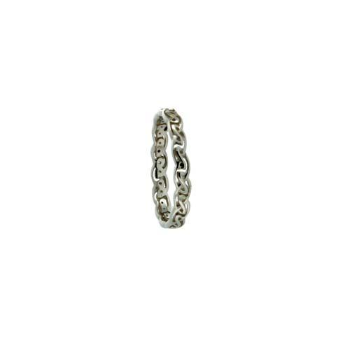 Narrow Celtic Knot Wedding Ring