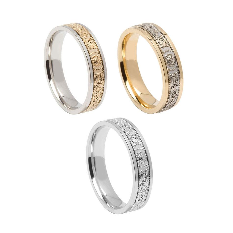 Men's 5 mm Comfort Fit Warrior Shield Wedding Ring