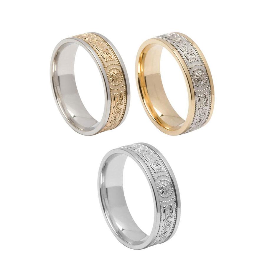 Men's 6.6 mm Comfort Fit Warrior Shield Wedding Ring