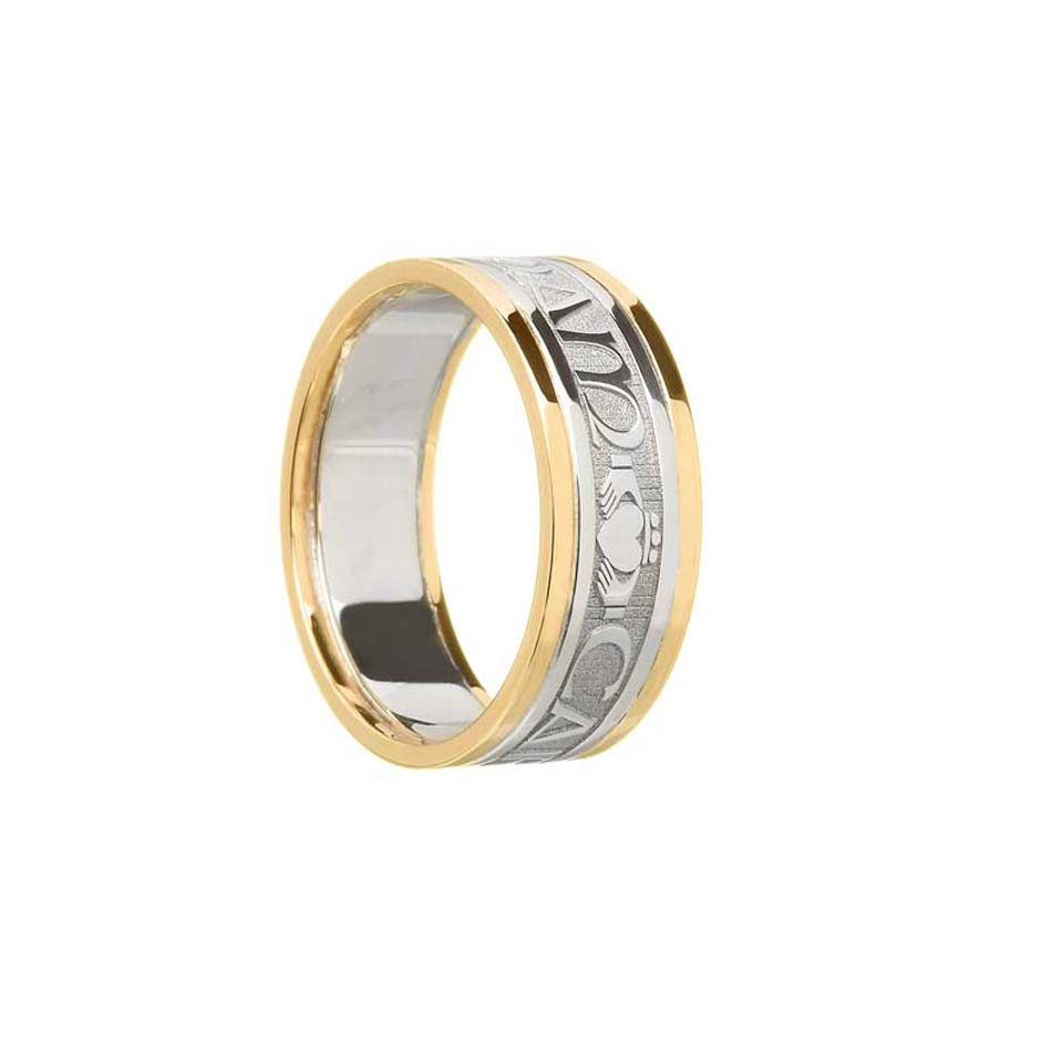 Ladies Mo Anam Cara Wedding Ring with Trim