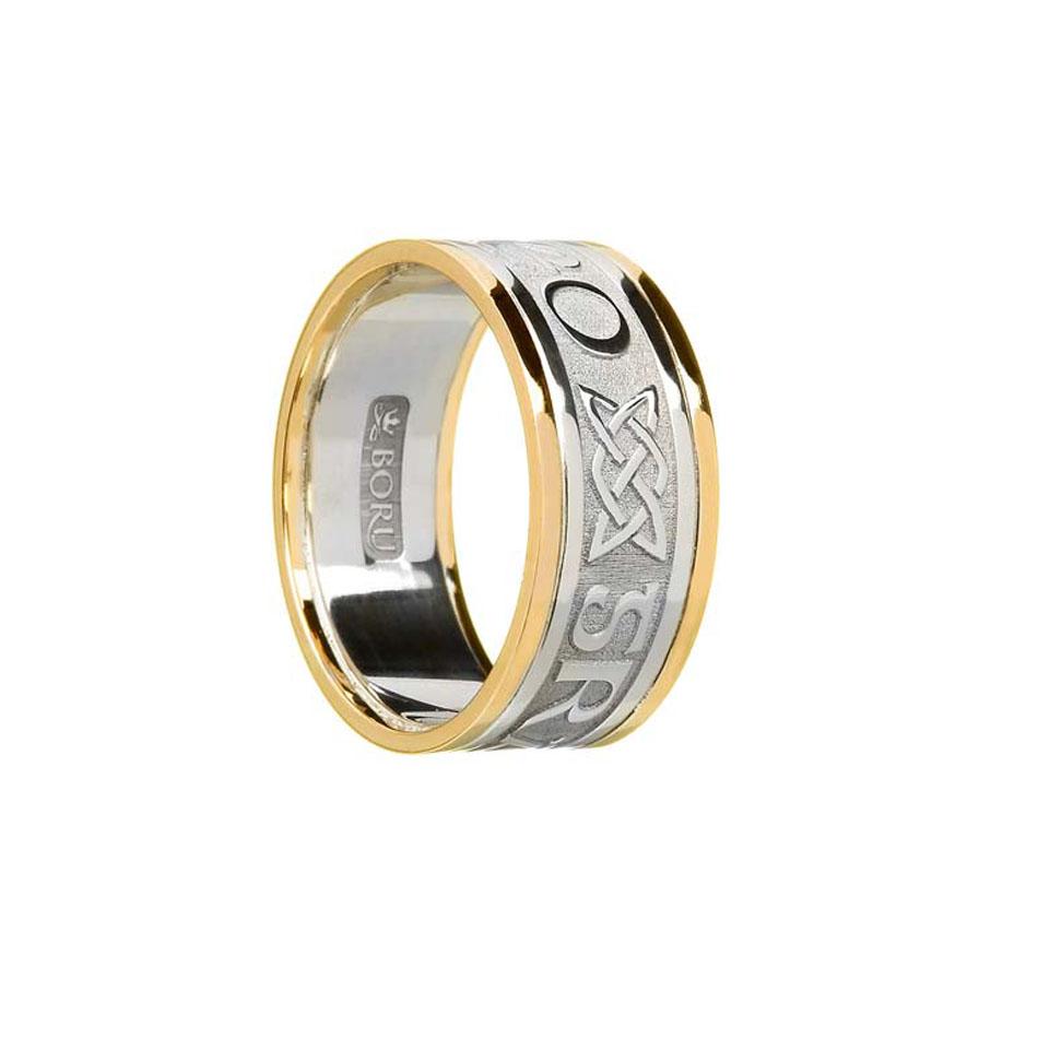 Men's Sterling Silver Gra Go Deo Wedding Ring