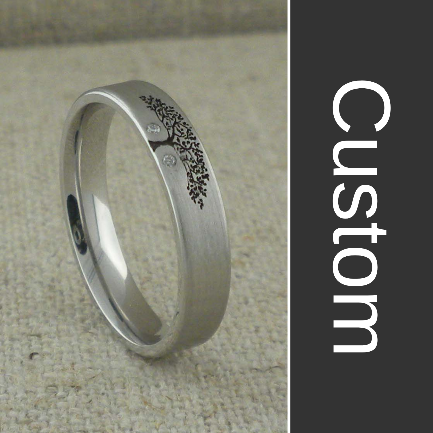 Custom Tree of Life Wedding Ring