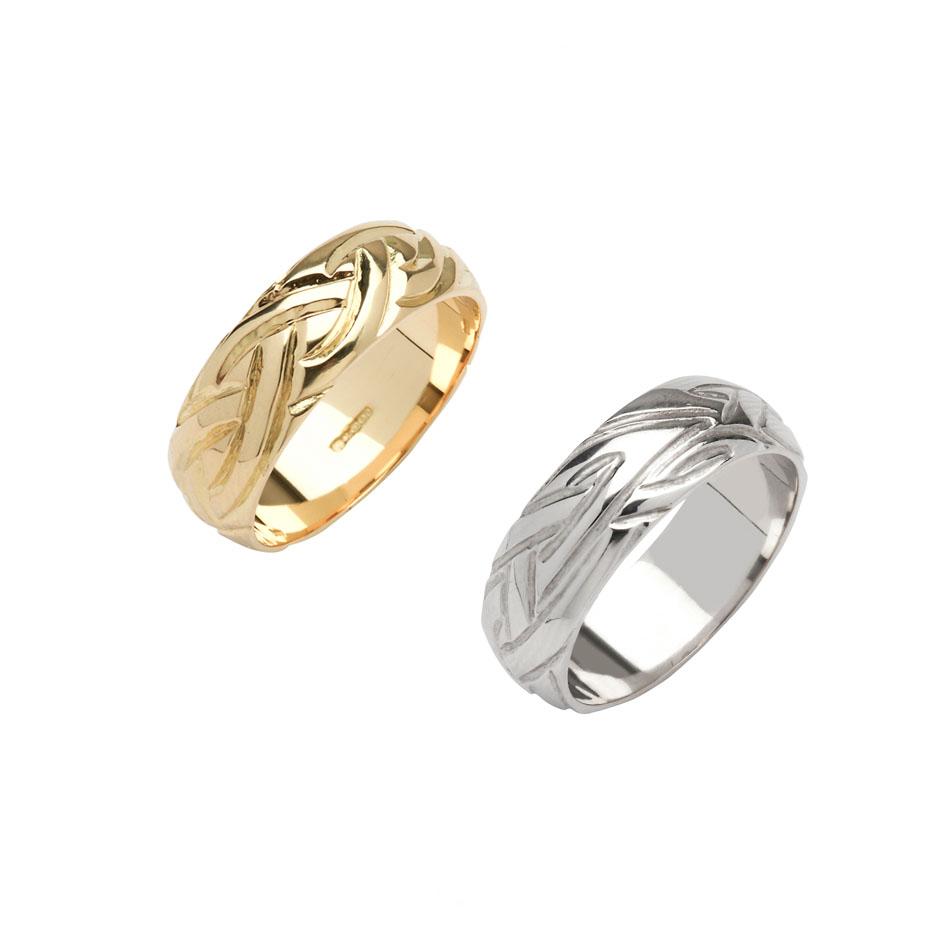 Men's Wide Celtic Livia Wedding Ring
