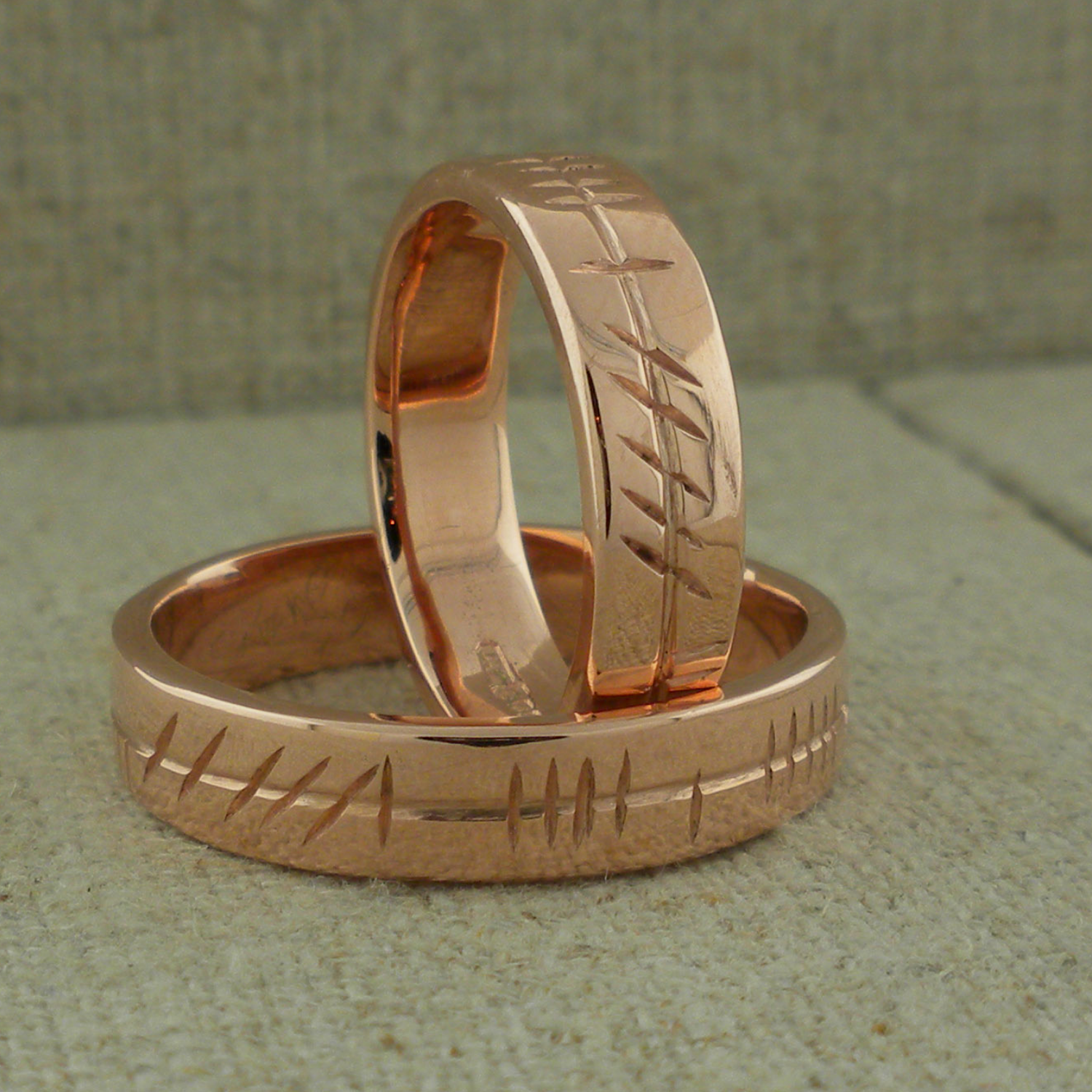 Personalized Ogham in Rose Gold
