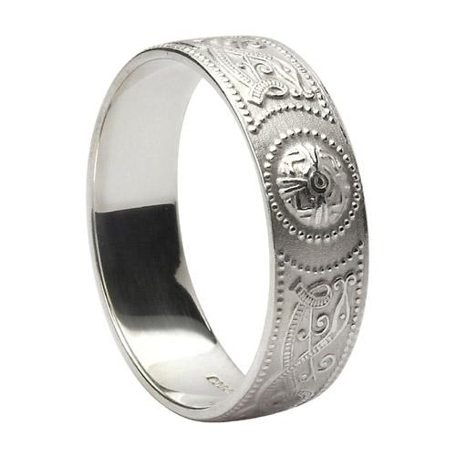 Sterling Silver 6 mm Celtic Warrior Shield Wedding Ring