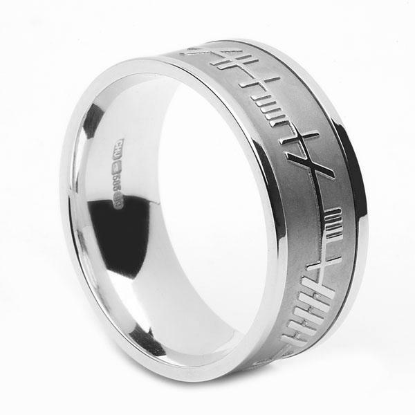 All White Mo Anam Cara Wedding Ring