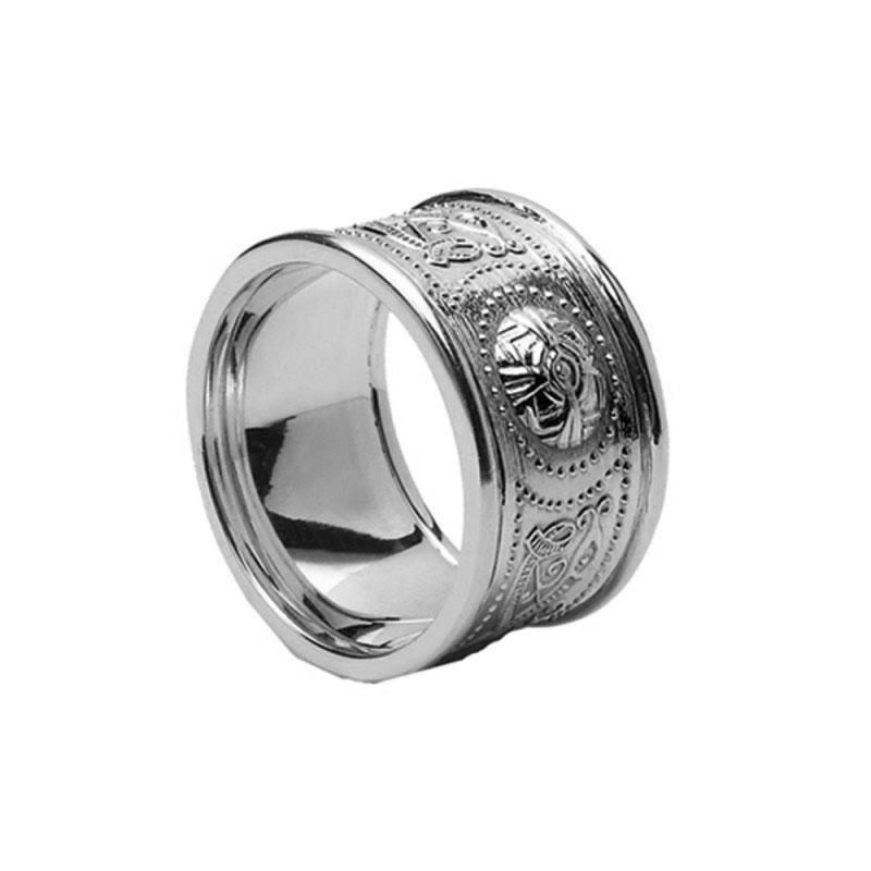 Extra Wide Celtic Warrior Shield Wedding Ring