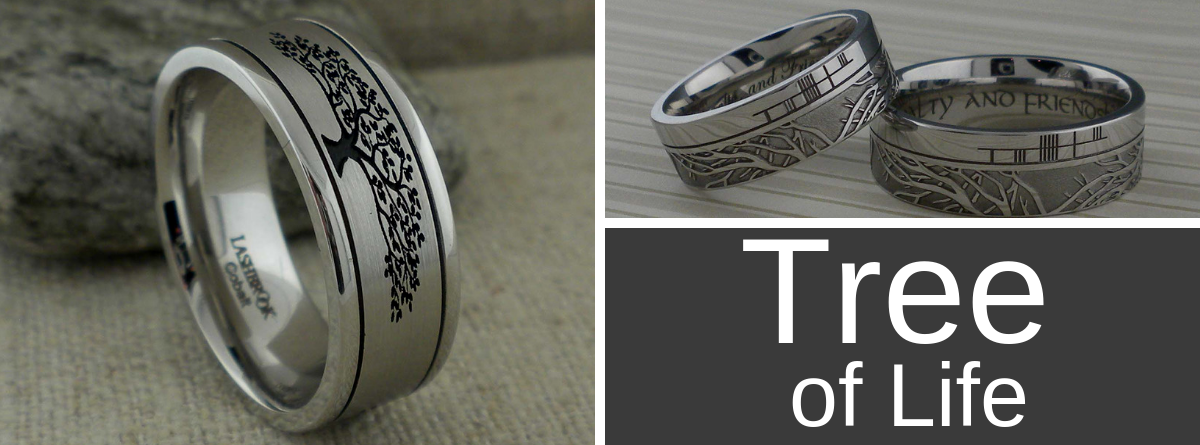 Tree of Life Wedding Rings