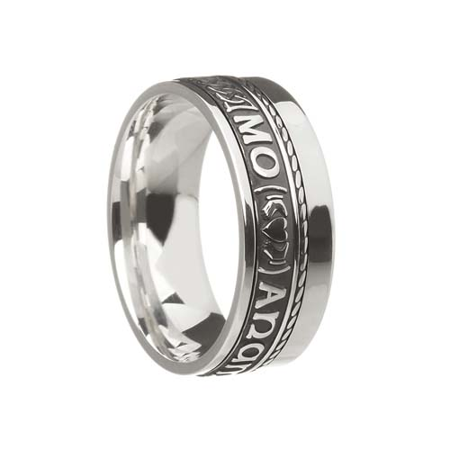 Mo Anam Cara Wedding Ring 7.5 mm with Rail Edge