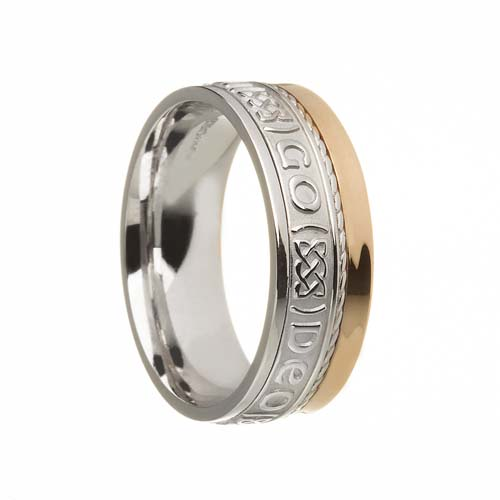 Gra Go Deo Wedding Ring 7.5 mm with Rail Edge