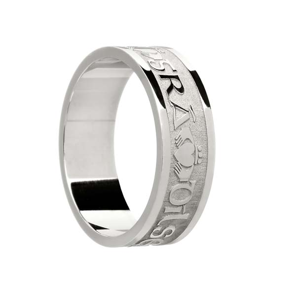 Men's Gaelic Claddagh Wedding Ring