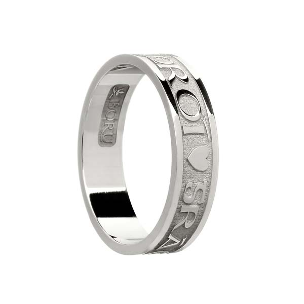 Ladies Gra Geal Mo Chroi Wedding Ring