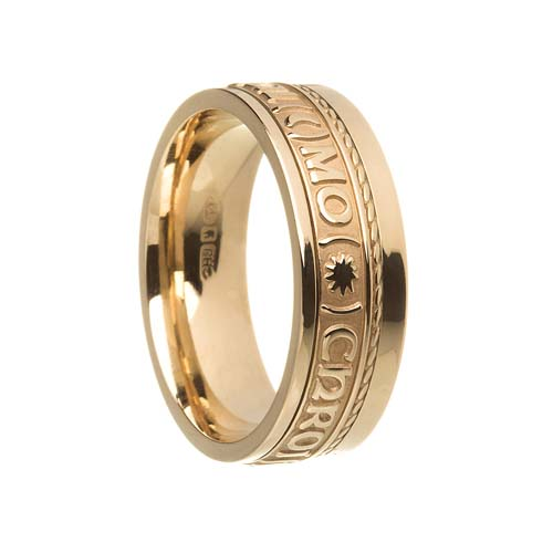 Gra Geal Mo Chroi Wedding Ring with Rail Edge