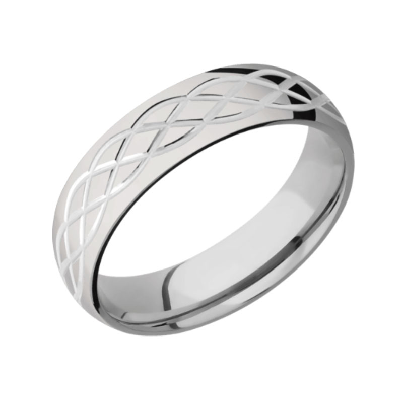 Celtic Intricate Heart Knot Wedding Band Available In All Metals 6.0 mm width