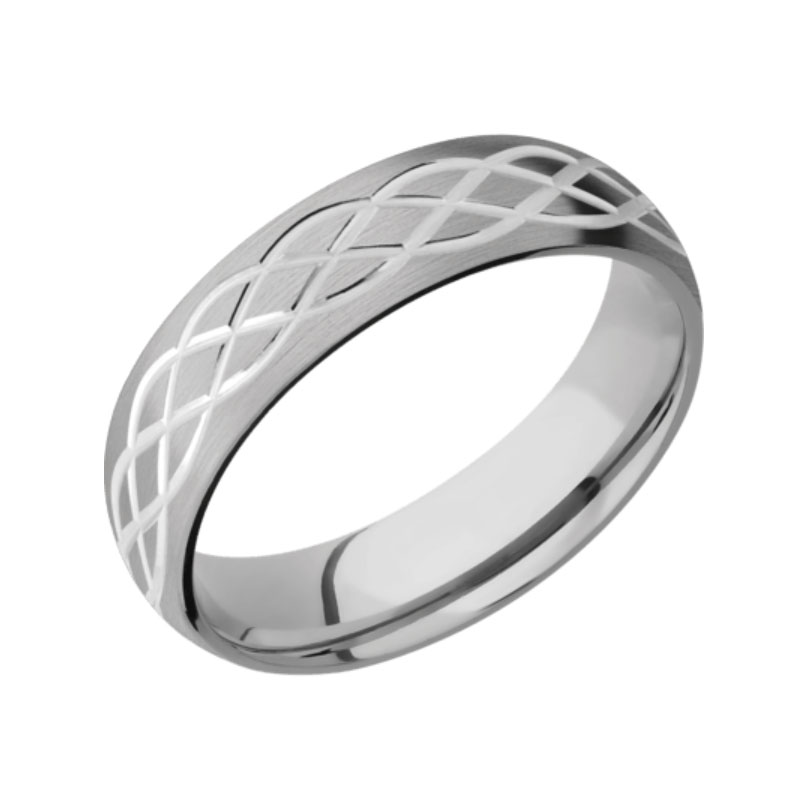 Satin with Polished Design Celtic Wedding Ring