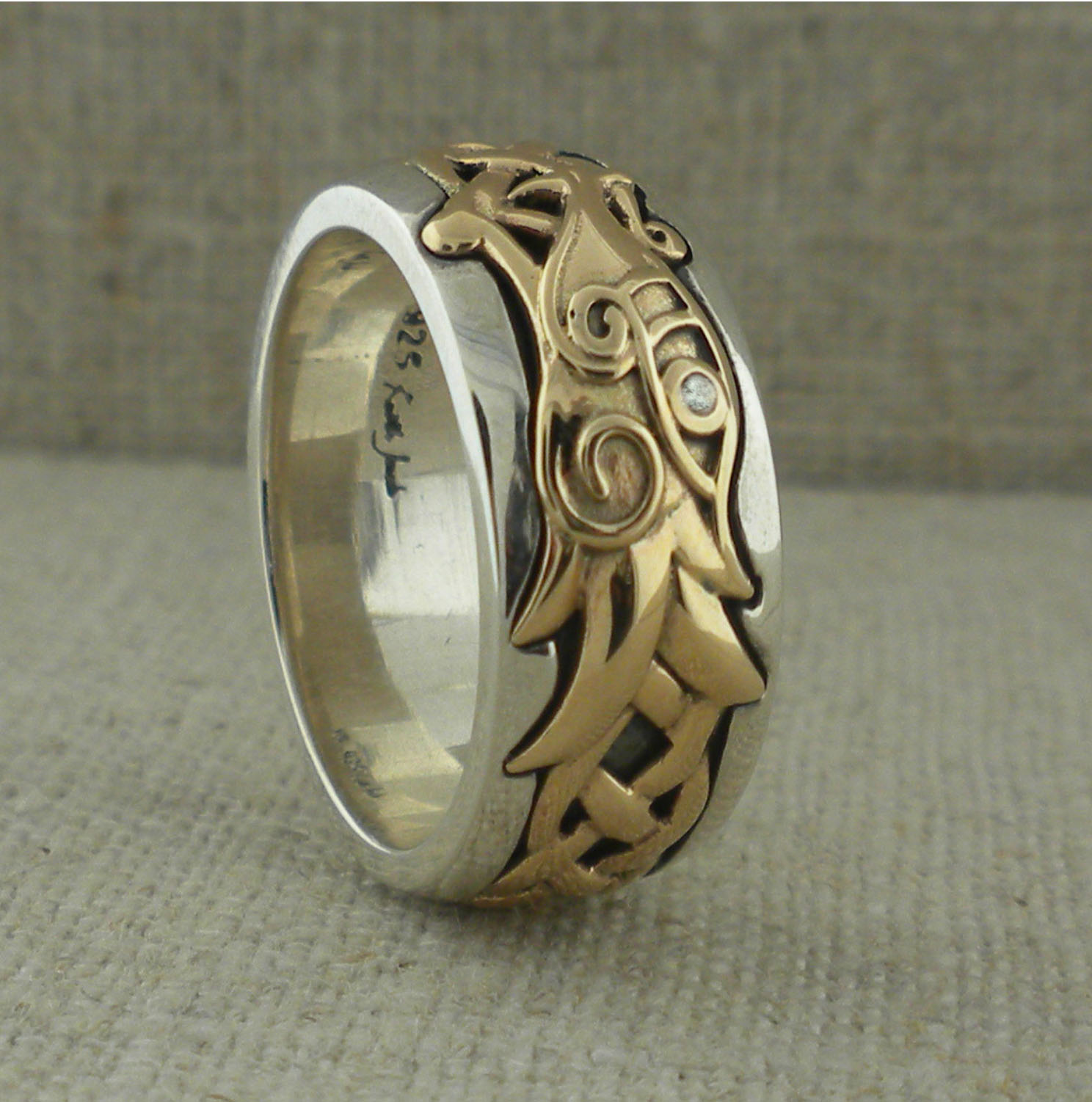 Keith Jack Dragon Wedding Ring Unique Celtic Wedding Rings