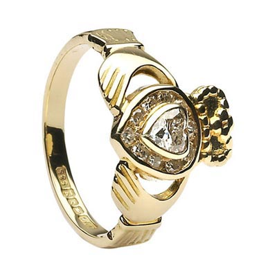 Claddagh Rings with Diamonds