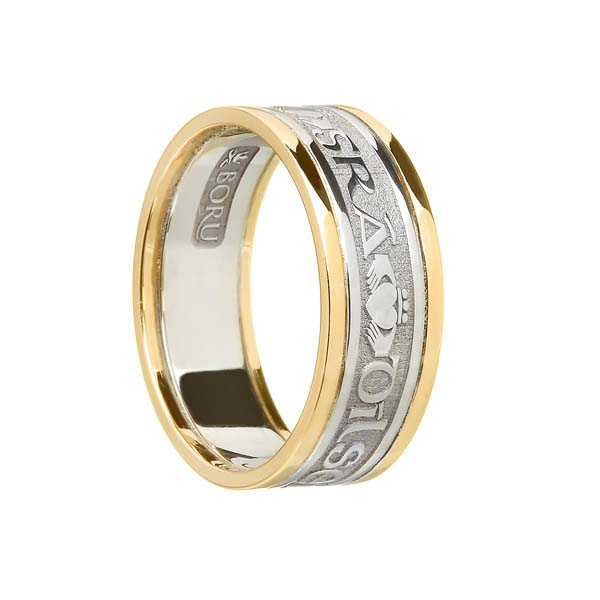 Ladies and Men's Gra Dilseacht Cairdeas Wedding Ring with Trim