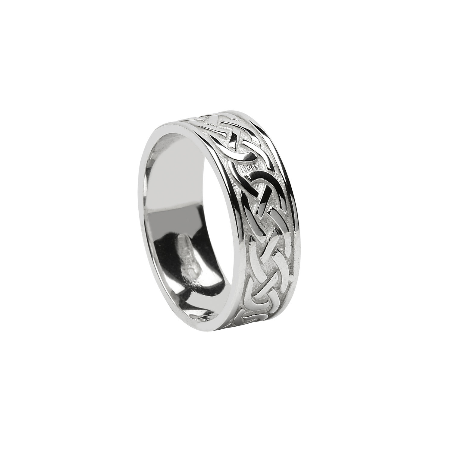 Celtic Knot Wedding Bands.Ladies Sterling Silver Celtic Knot Wedding Ring Unique Celtic Wedding Rings