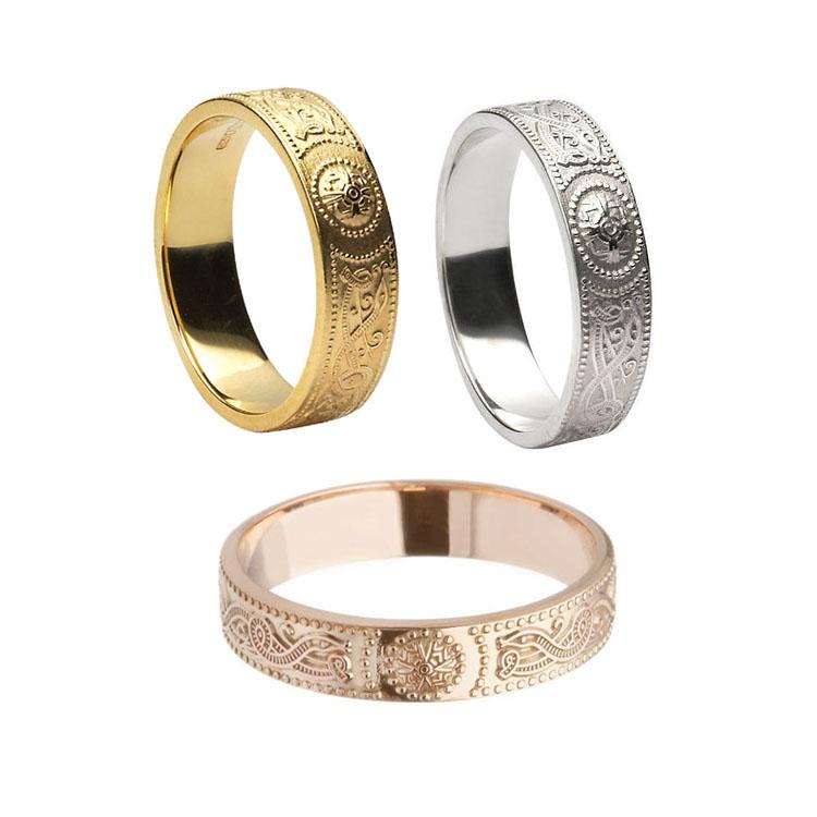4.4 mm Celtic Warrior Shield Wedding Ring