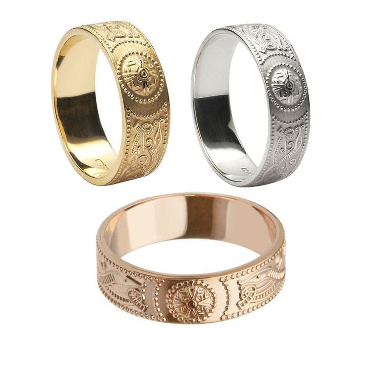 6 mm Celtic Warrior Shield Wedding Ring