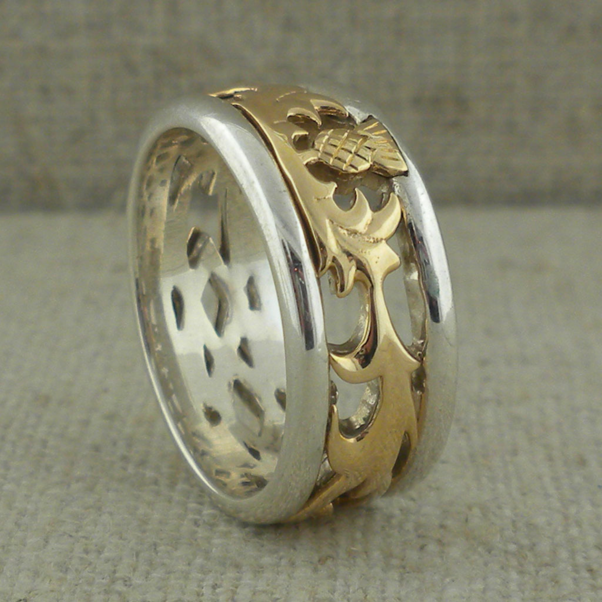 Scottish Thistle Wedding Ring by Keith Jack
