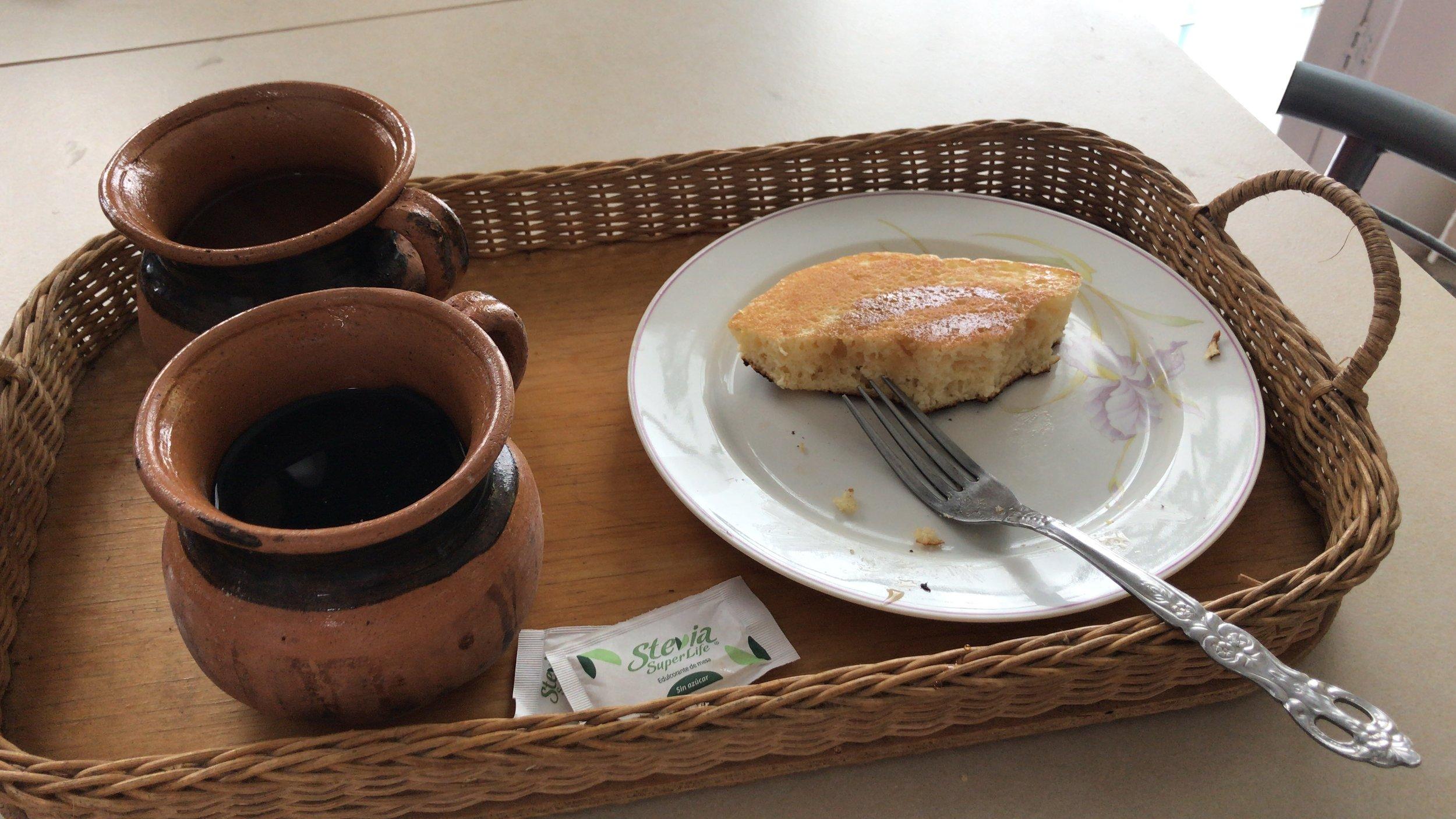 Panqueques, café y té de gingibra