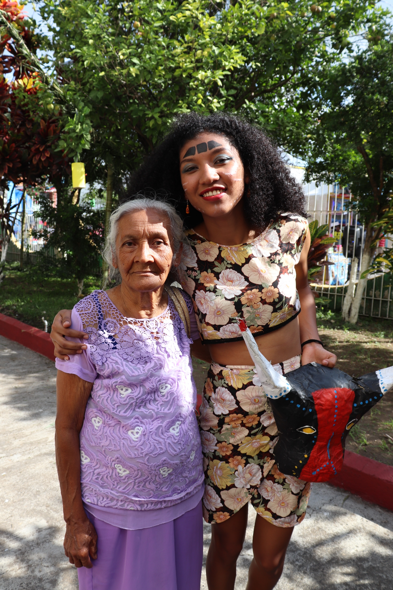 Daniela with her grandmother, Doña Ufi