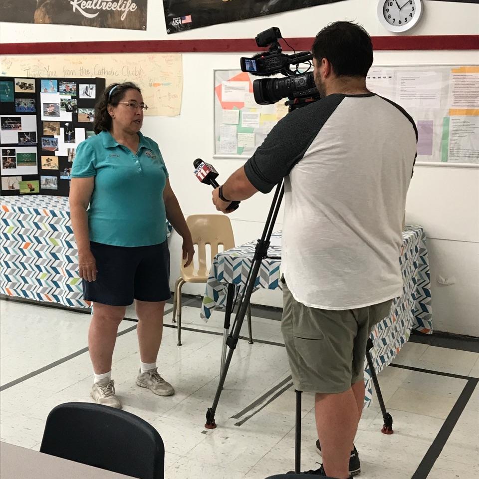 Coach AJ interviewed for AJ Archery Olympic Day 6-17-17