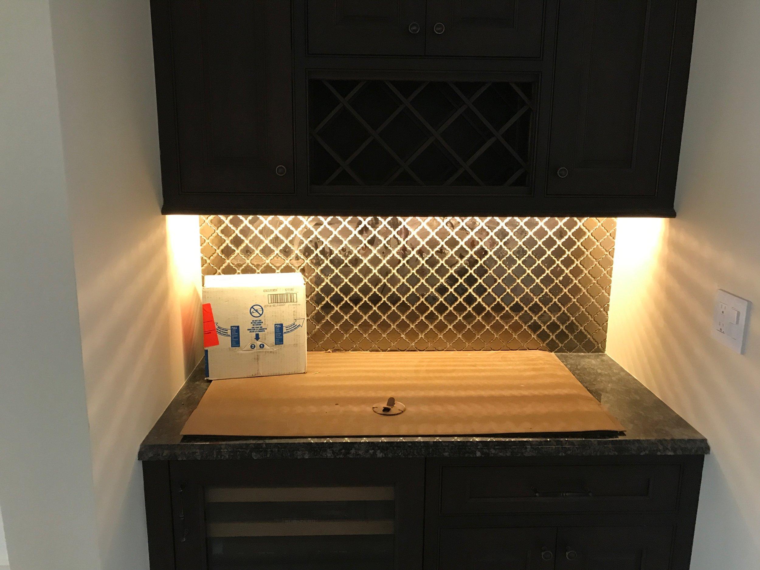 Custom under-cabinet lighting