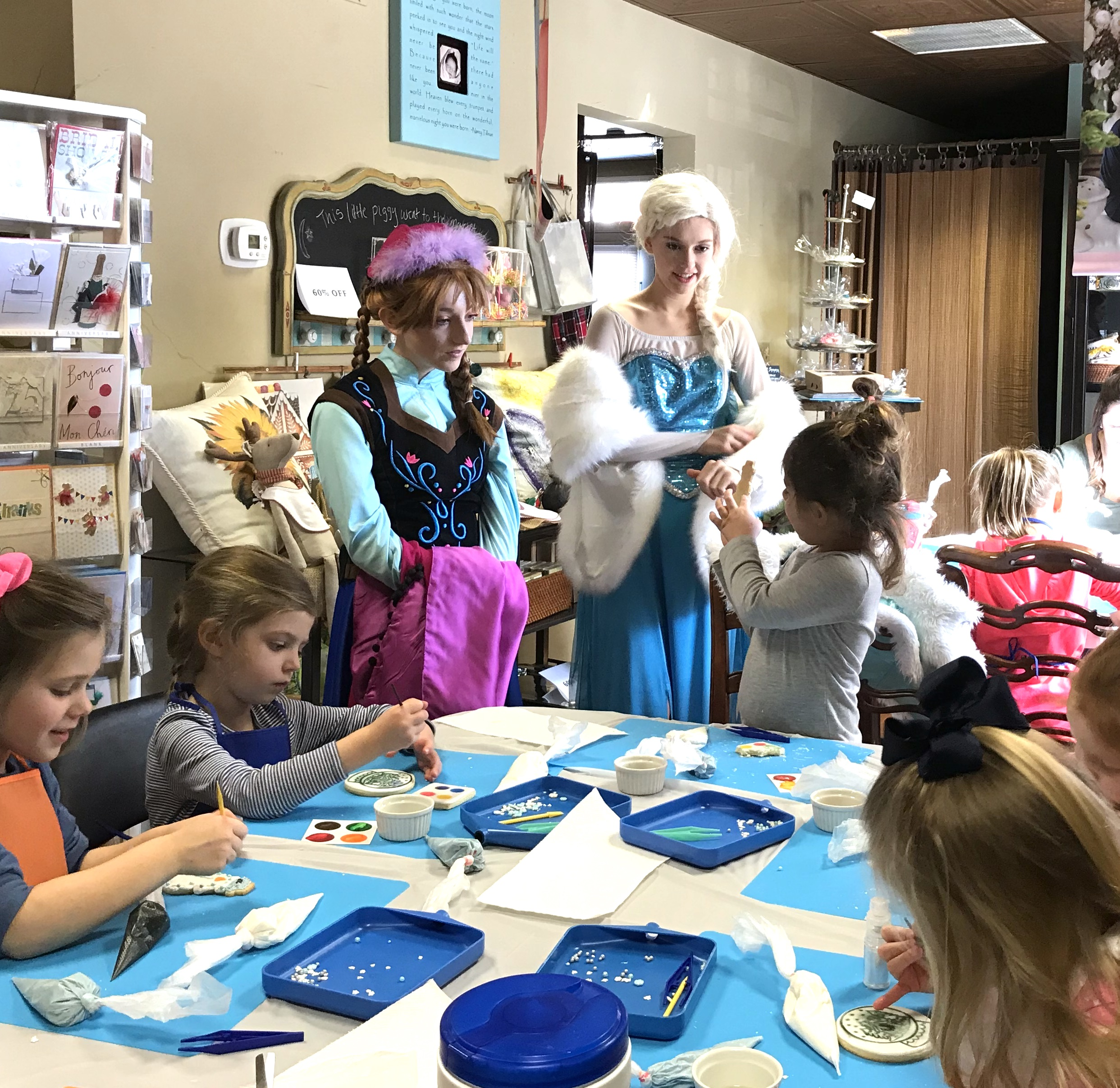 Frozen Cookie Decorating Class with Anna & Elsa