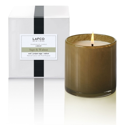 Sage & Walnut: Freshly-chopped walnut is gently laden with notes of orange, star anise, oud and juniper sage.