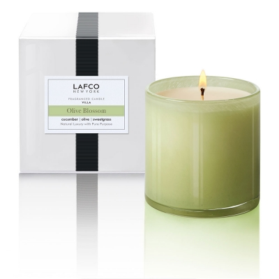 Olive Blossom: Refreshing cucumber, birch and olive blossom are grounded with sweet grass and patchouli.