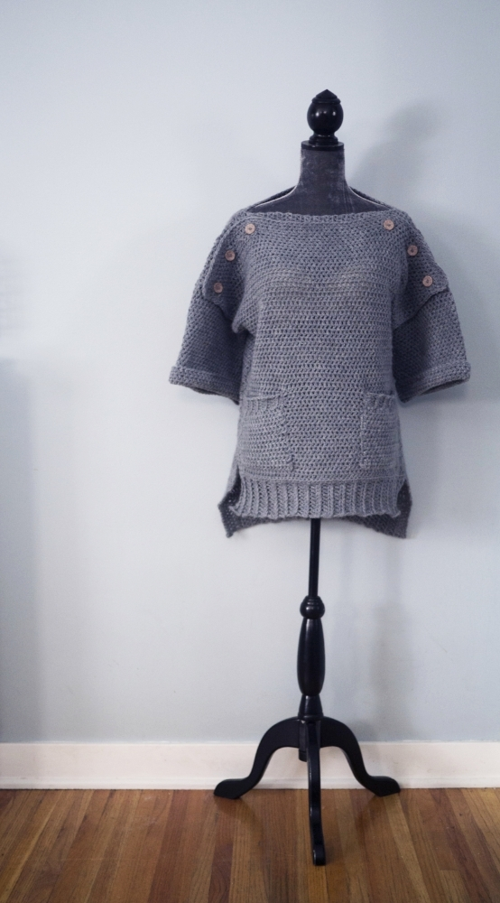 """Modified Homebody Sweater for nursing moms. Pattern """"MOMification"""" included at the bottom of the page."""