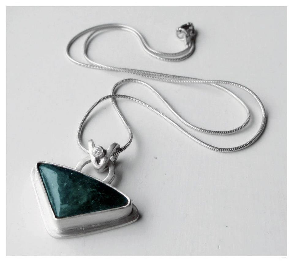 The Summer Triangle. Sterling Silver, Labradorite, Cubic Zirconia. 2012 .