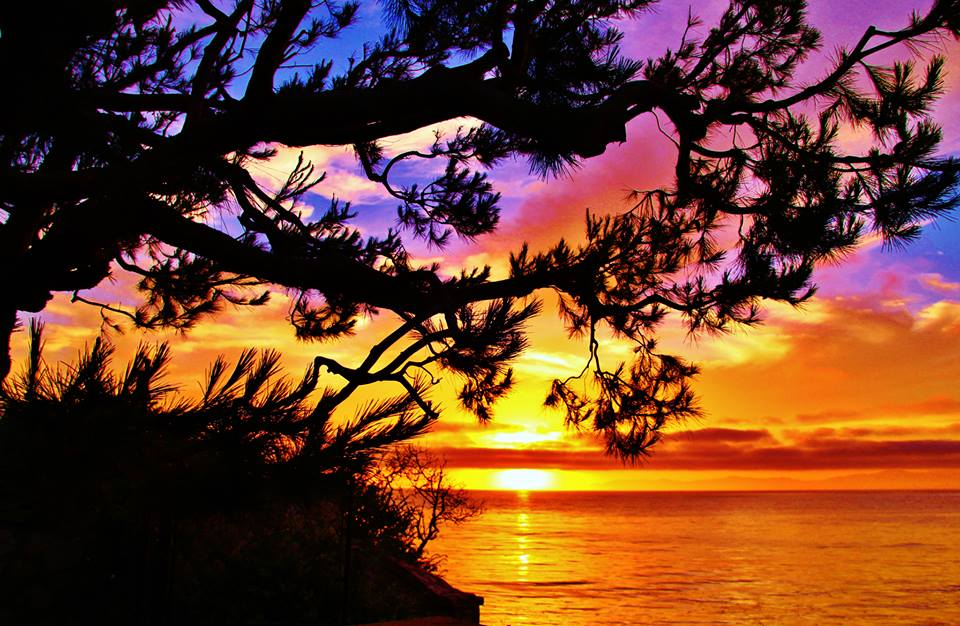 Summer sunset in Rancho Palos Verdes