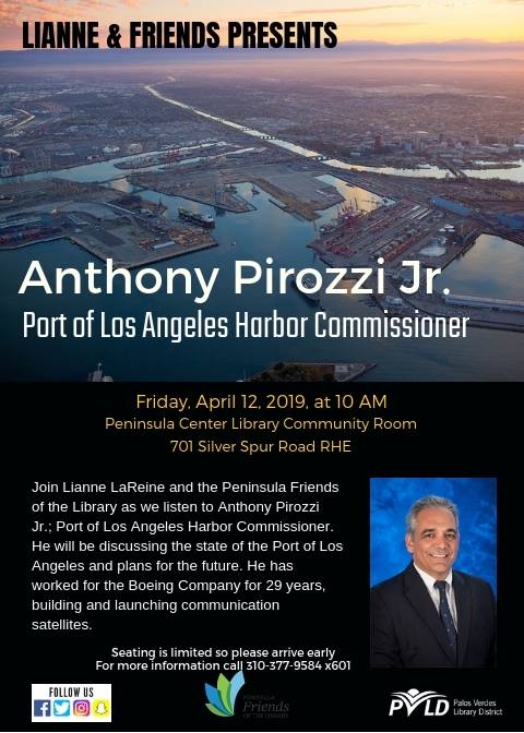 FREE Lecture - Port of Los Angeles Harbor Commissioner - Come learn about future of our port!